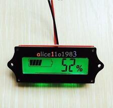 12V 1*LCD Indicator Lead-acid LiPo Battery Power Capacity Tester/Monitor K62