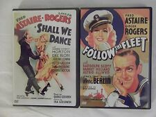 Fred Astaire and Ginger Rogers DVD LOT - Shall We Dance + Follow the Fleet