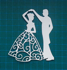 12 white couple card toppers Signatures Dies paper die cuts wedding first dance