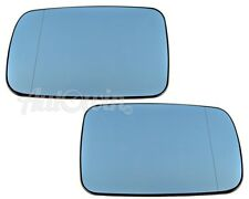 BMW 7 SERIES E65 E66 2000-2008 MIRROR GLASS HEATED CONVEX LH & RH SIDE BLUE