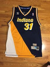 VINTAGE 90S INDIANA PACERS REGGIE MILLER CHAMPION JERSEY SIZE MENS 48