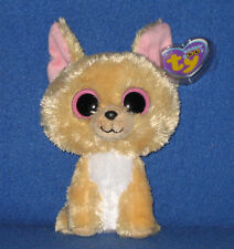"TY BEANIE BOOS BOO'S - NACHO the 6"" CHIHUAHUA - MINT with MINT TAG"