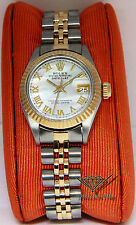 Rolex Datejust 18k Yellow Gold/Steel MOP Roman Dial Ladies Watch 6917