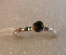 Sterling Silver 925 dainty Round cabochon purple Natural Amethyst Ring size 6