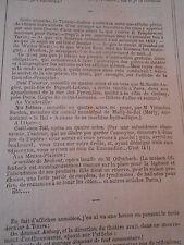 1868 Article de quelques lignes Offenbach Geneviève de Brabant