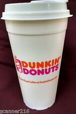 Dunkin Donuts - 16 OZ.- HARD PLASTIC -RARE TRAVEL CUP- LOOKS LIKE STYRO - NEW