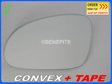Wing Mirror Glass VW SHARAN  2005-2010 CONVEX + TAPE Left Side #1033