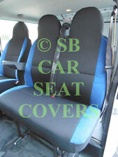 IVECO DAILY VAN SEAT COVERS ANTHRACITE CLOTH + NEON BLUE TRIM
