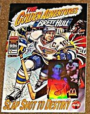 GOLDEN ADVENTURES OF BRETT HULL 1 McDONALDS GIVEAWAY PROMO '94 RARE VF COCA COLA
