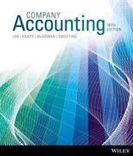 NEW - 3 DAYS to AUS - Company Accounting by Leo, Knapp, McGowan (10 Ed)