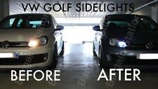 VW GOLF MK4 MK5 MK6 XENON ICE WHITE LED SIDE LIGHT BULBS ERROR FREE GTD GTi R32