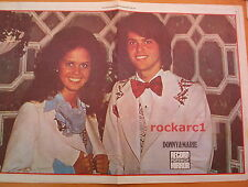 DONNY and MARIE OSMOND GIANT newsprint POSTER/ Pin Up 16x24 inches