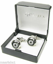 NOVELTY REAL WORKING COMPASS CUFFLINKS MENS SILVER SHIRT XMAS FREE GIFTBOX NEWUK