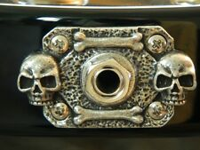SKULL METAL JACK COVER fits BC RICH BICH guitar rectangle plate HAND MADE!