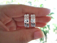 .04 Carat Diamond White Gold Wedding Rings 14K CODE WD007 sep013 PAYPAL