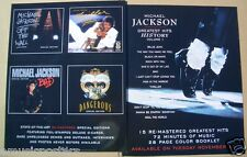 """MICHAEL JACKSON """"HISTORY 1"""" 2-SIDED U.S. PROMO POSTER - 4 Covers & Magic Shoes!"""