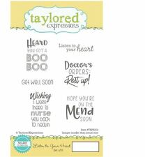Taylored Expressions Rubber Stamp Set ~ LISTEN TO YOUR HEART  - Get Well  ~212