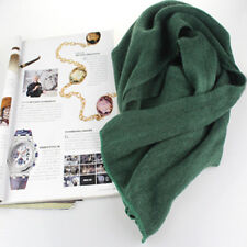 Women Winter Warm Scarf Artificial Wool Solid Knit Knitted Long Scarf Wrap Shawl