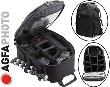 Large Agfaphoto Backpack Case For Canon EOS Rebel T6 80D 70D 1DX II 5DS 6D 7D II