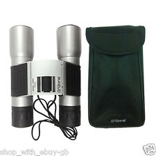 Optical Zoom Outdoor Folding Travel Black & Silver Binoculars 12 x 32 100M 1000M