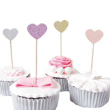 Blinling Color Heart Shaped Insert Cards with Toothpick Cake Decor For Wedding