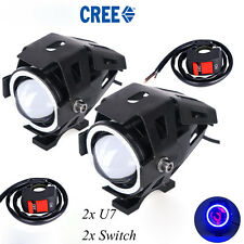 Blue Ring U7 Motorcycle LED Spotlight Fog Lamp with 2x switch for FZ16