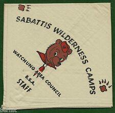 BOY SCOUT NECKERCHIEF - SABATTIS WILDERNESS CAMPS - STAFF  - FREE SHIPPING  XX