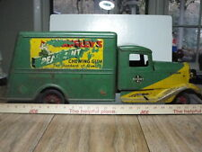 PRESSED STEEL BUDDY L WRIGLEYS SPEARMINT RAILWAY EXPRESS TRUCK RIDE -ON-