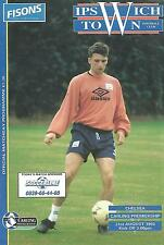 Football Programme - Ipswich Town v Chelsea - Premiership - 21/8/1993