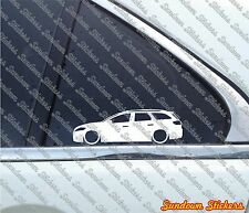 2x Lowered car outline stickers - for Ford Mondeo mk4 estate / wagon 2007-2014