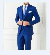 Royal Blue Wedding Mens Suits Bespoke Formal Groom Tuxedos Best Man Party Suit