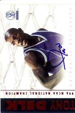 tony delk rookie rc draft auto autograph kentucky wildcats uk college 1997