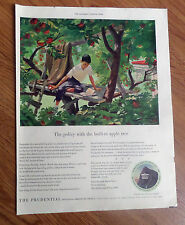 1950 Prudential Insurance Ad The Policy with the Built-In Apple Tree