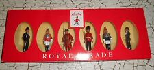 Set Of 6 BRITAINS Metal Models HAMLEYS Royal Parade Soldiers 1:32 Scale