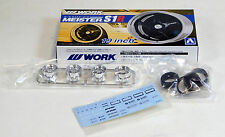 "Aoshima 1/24 W Work Meister 19"" Wheel & Tire Set For Plastic Models 2457 (06)"