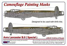 AML Models 1/72 CAMOUFLAGE PAINT MASKS AVRO LANCASTER B.II DAM BUSTER