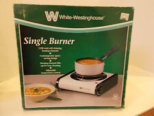 NEW WHITE WESTINGHOUSE SINGLE BURNER HOT PLATE COLLEGE DORM ELECTRIC COOKING