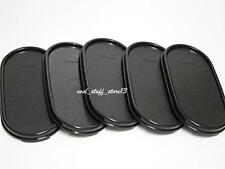5 New Tupperware Modular Mates MM Oval Replacement Lid Seal Cover Black