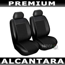 Seat Covers Faux leather 2X Alcantara black Alfa Romeo 156