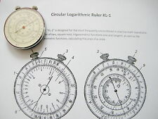 Russian Circular Slide Rule Two Side Logarithmic 1960's.