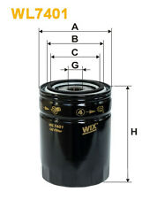 WIX WL7401 Car Oil Filter - Spin-On Replaces W94062 PH9637 OC486