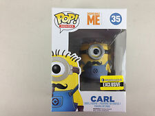 FUNKO POP! DESPICABLE ME 2 MOVIE EE EXCLUSIVE MUSTACHE CARL MINION BAD PAINT JOB