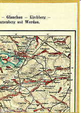 Limbach Oberfrohna Hohenstein Ernstthal 1921 Teilkarte/Ln. Rußdorf Rabenstein