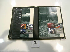LAND ROVER FREELANDER OWNERS MANUAL HAND BOOK WITH LEATHER FOLD OVER COVER  (2)