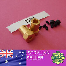 2 of 7mm to Hex Wheel Coupler for R/C wheel with 12mm hex indent