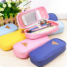 Stationery Canvas Pen Pencil Case Cosmetic Bag Travel Makeup Bag High Capacity #