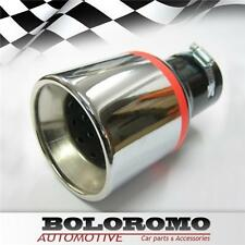 Universal Car Exhaust Tip Muffler Trim Pipe Chrome