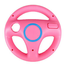 Pink Round Racing Steering Wheel Remote for Nintendo Wii U & Mario Kart Game