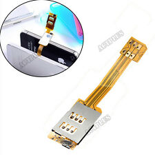 Dual Sim Card Adapter Single Standby Flex Cable Ribbon For iPhone 5S 5C 6  NEW