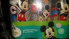 ��NEW DISNEY BABY MICKEY MOUSE 9OZ  3 PACK BOTTLES. BPA FREE��